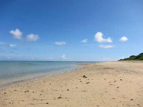 宮古島の砂浜