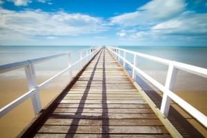 ビーチまで一直線